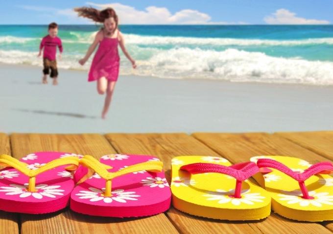 kids having fun on the beach in Phuket