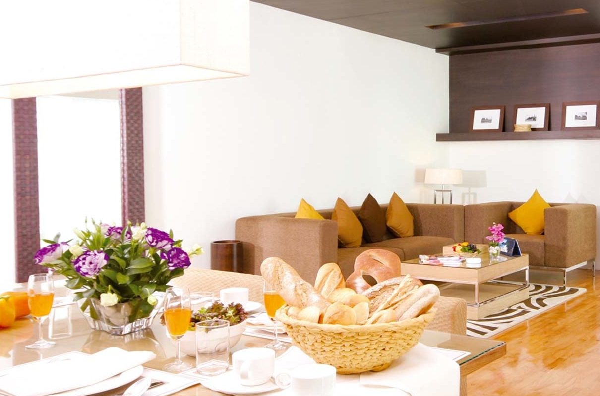 Dining and living room at Kantary Hills Chiang Mai