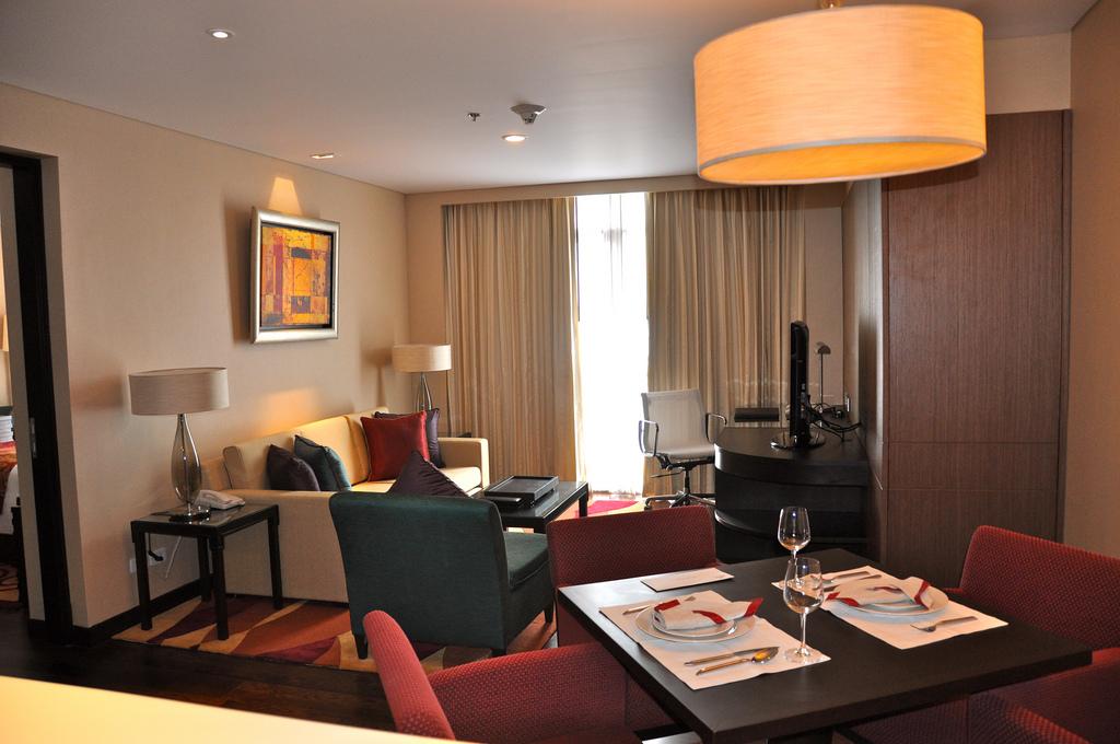Living room of the Sathorn Vista Marriott Executive Apartments