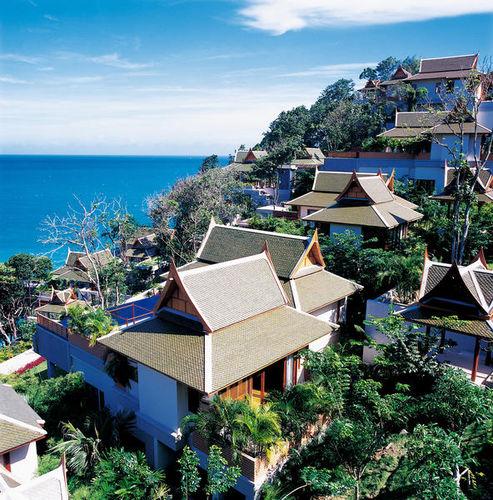 Ayara Kamala Resort perched on a hillside overlooking the ocean