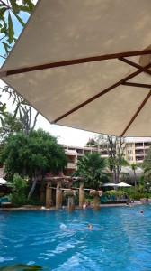 Poolside at the Hua Hin Marriott resort & Spa