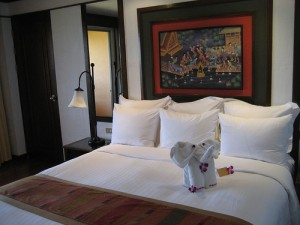 Bedroom at the Hua Hin Marriott